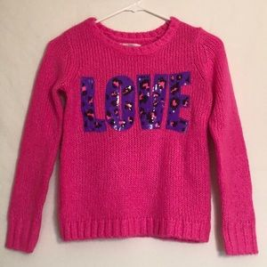 Justice Shirts & Tops - Justice Pink Girls Sweater Hot Pink